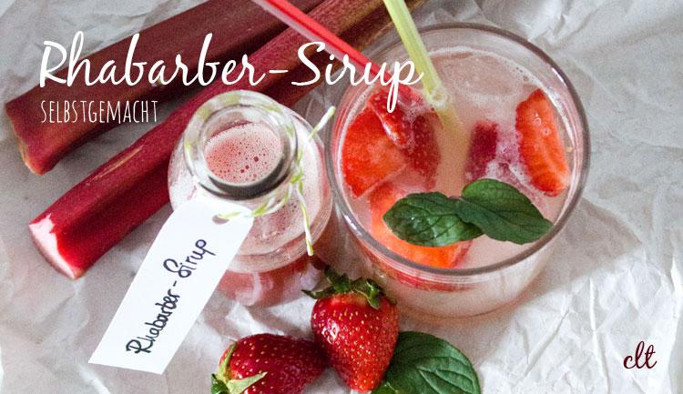 Selbstgemachter Rhabarber-Sirup