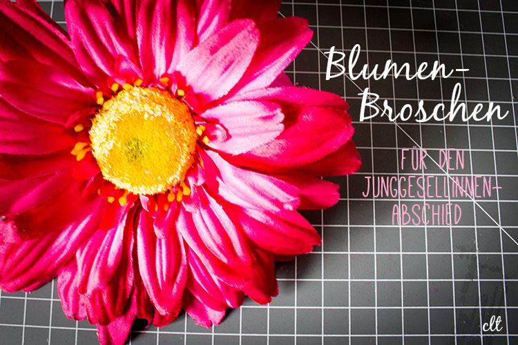 Blumen-Broschen für den Junggesellinnen-Abschied