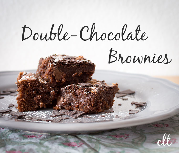 Double-Chocolate Brownies Headline