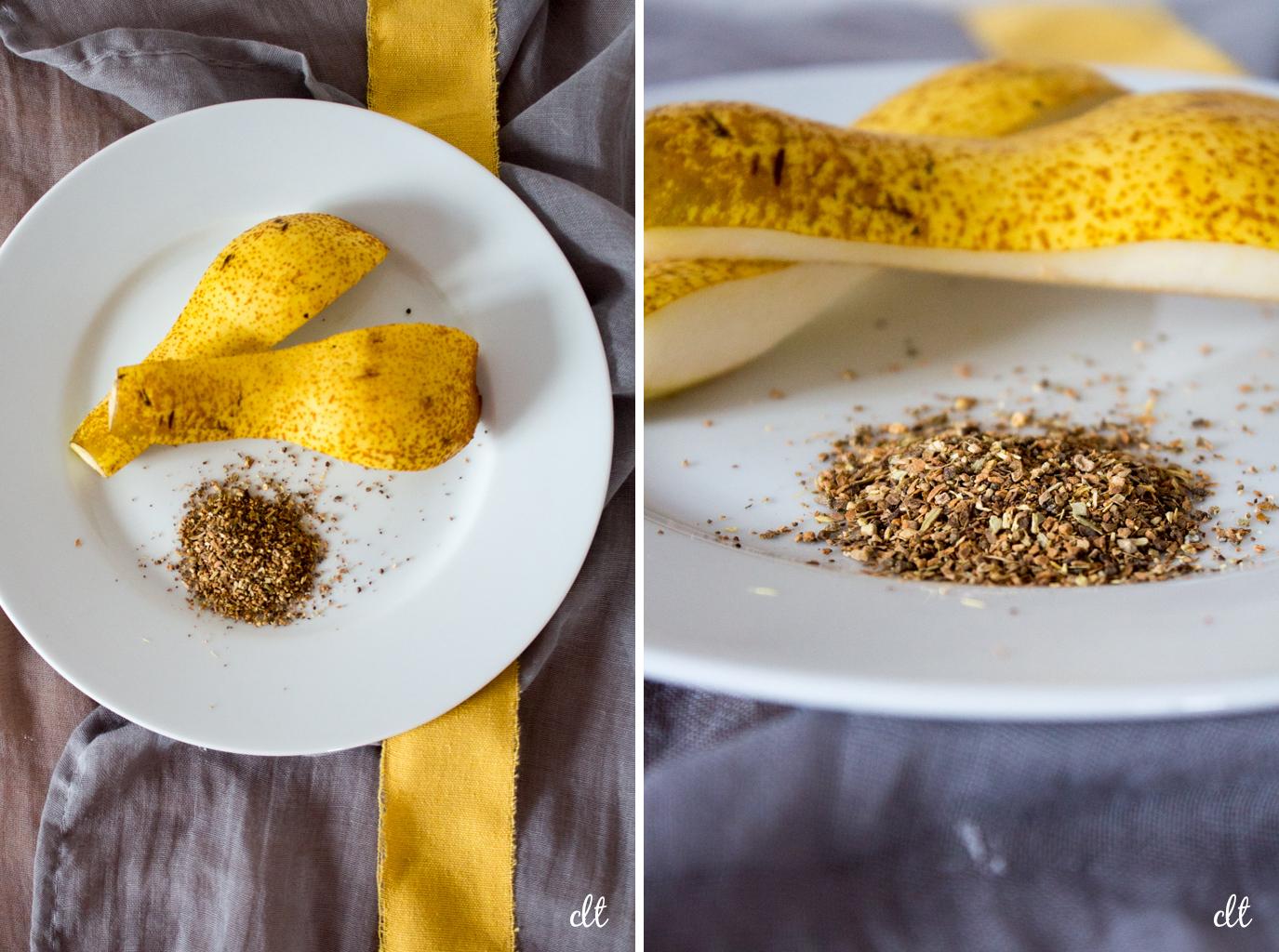 Die zwei Hauptzutaten für den Birne-Chai-Kuchen