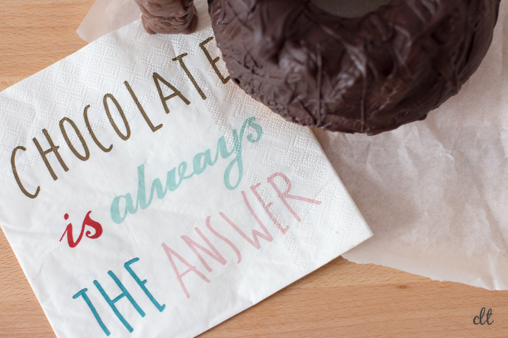 Schokolade ist immer die Antwort - chocolate is always the answer