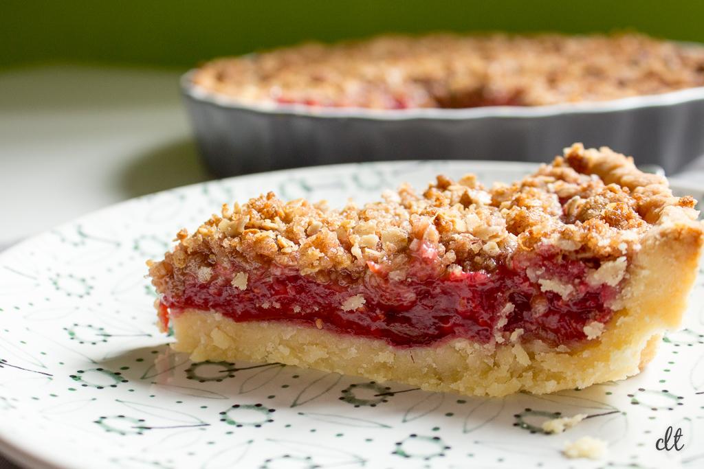 Rhabarber-Himbeer-Pie