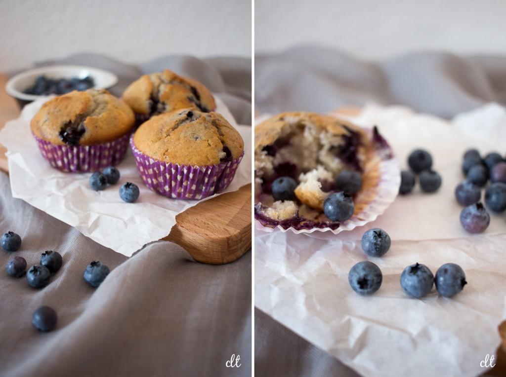 Blaubeer Muffins im Detail