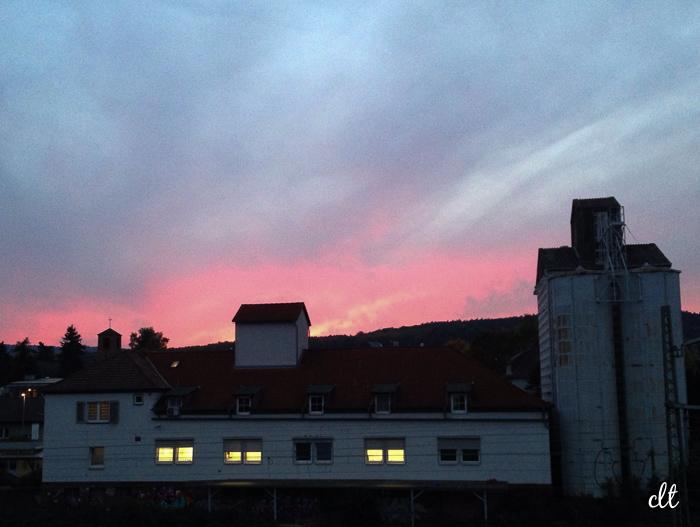12von12 - Abendhimmel über Butzbach