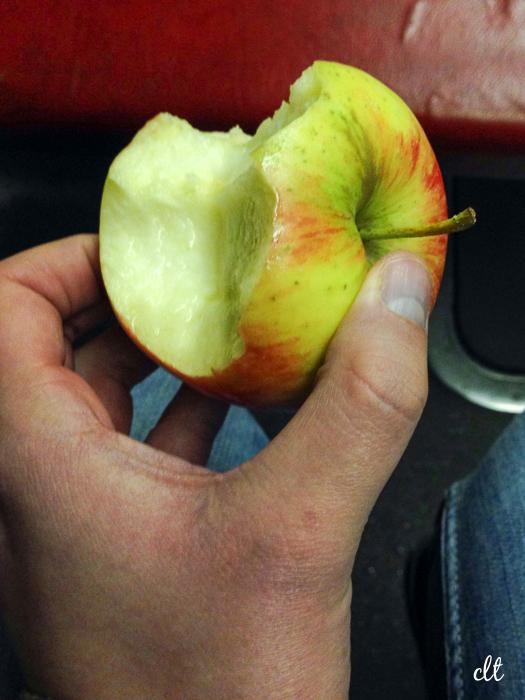 12von12 - ein angebissener Apfel