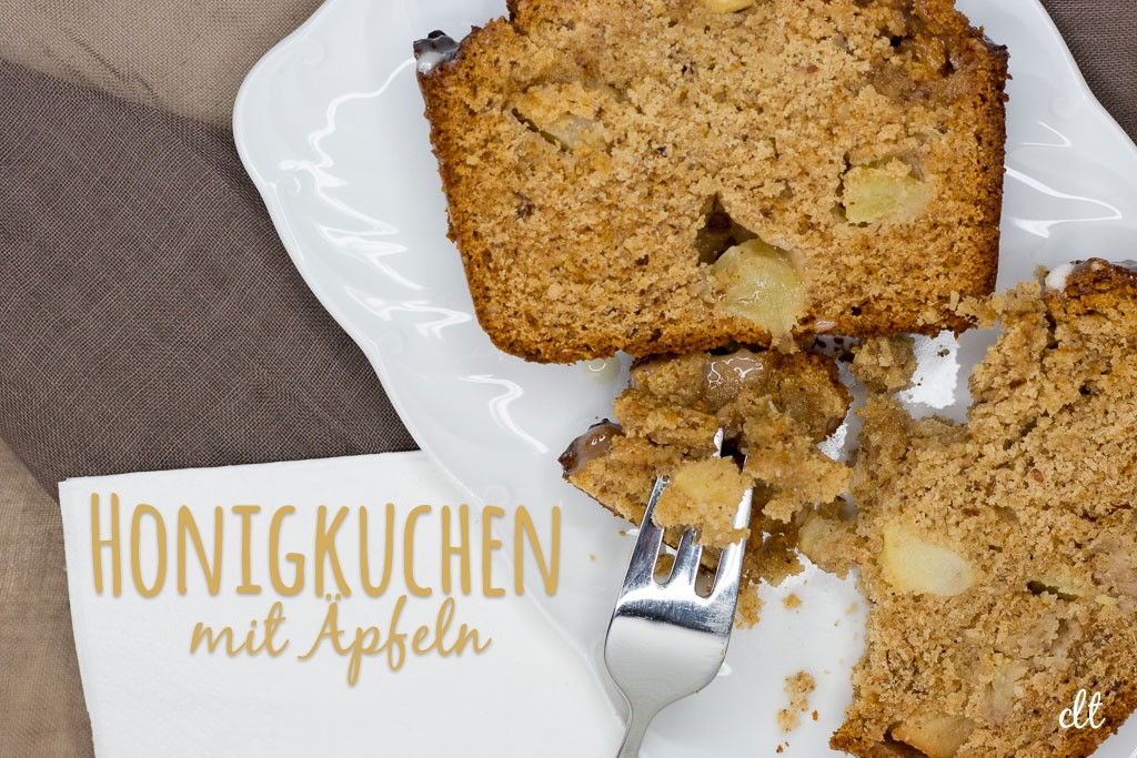 Honigkuchen mit Äpfeln