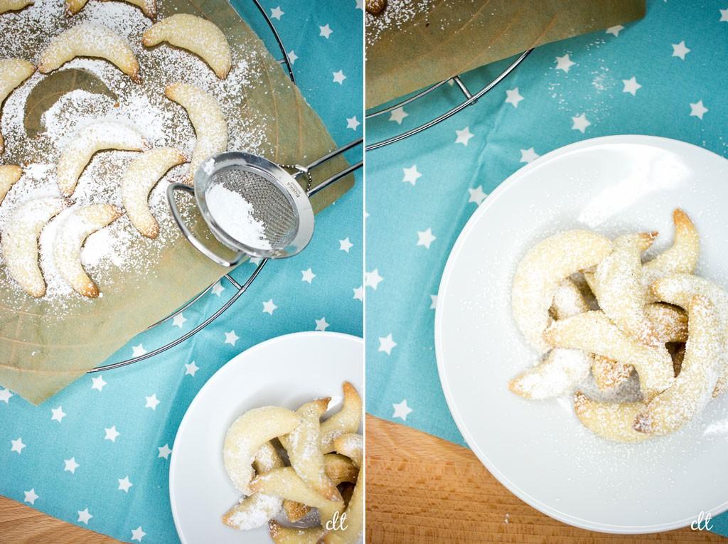 Vanillekipferl - schnell noch mit Puderzucker bestreuen