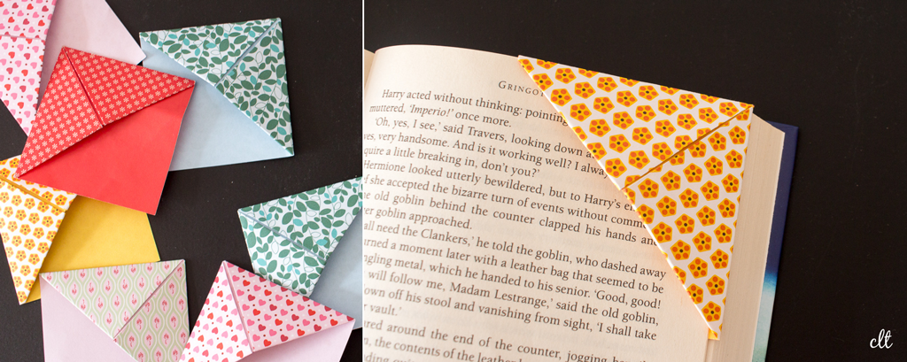 Origami-Lesezeichen - ganz viele kleine Lesezeichen