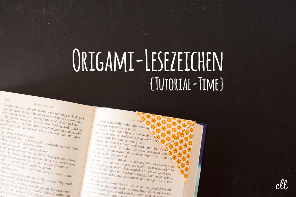 Origami-Lesezeichen {Tutorial-Time}