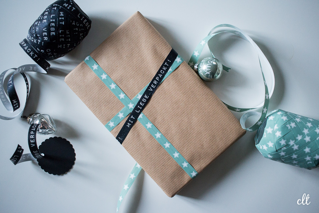 Geschenke verpacken - Idee 1: verschiedene Bänder